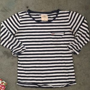 Holliston striped shirt: quarter sleeve